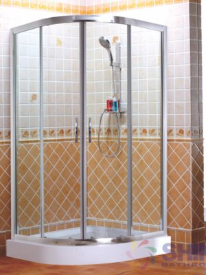 Shower Door – Blue Diamond